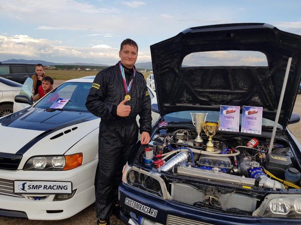 Евгений Костромин на автомобиле Toyota Chaser показал 6 время в СНГ среди заднеприводных стритовых автомобилей.